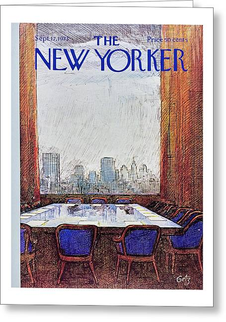 New Yorker September 17th 1973 Greeting Card