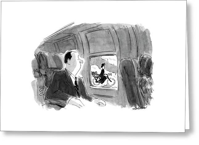 New Yorker September 17th, 1990 Greeting Card by James Stevenson