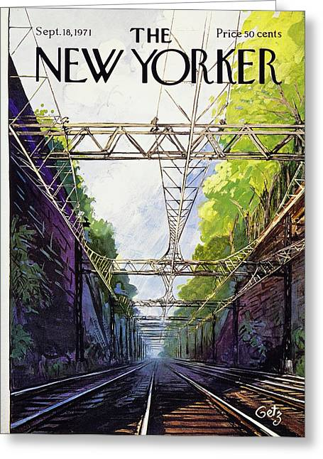 New Yorker September 18th 1971 Greeting Card