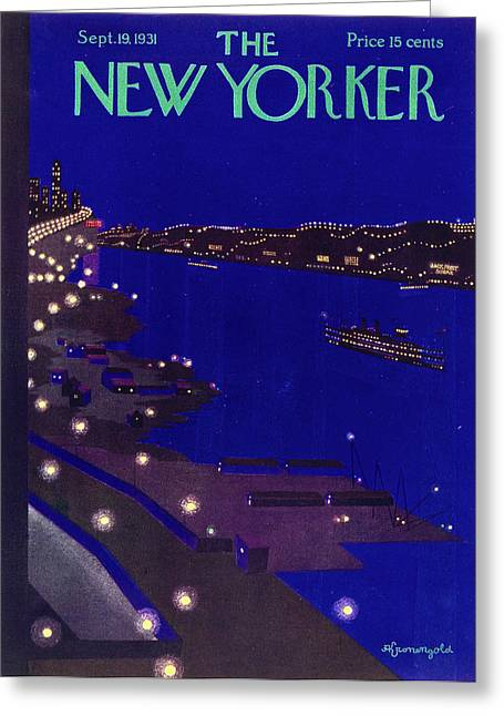 New Yorker September 19 1934 Greeting Card