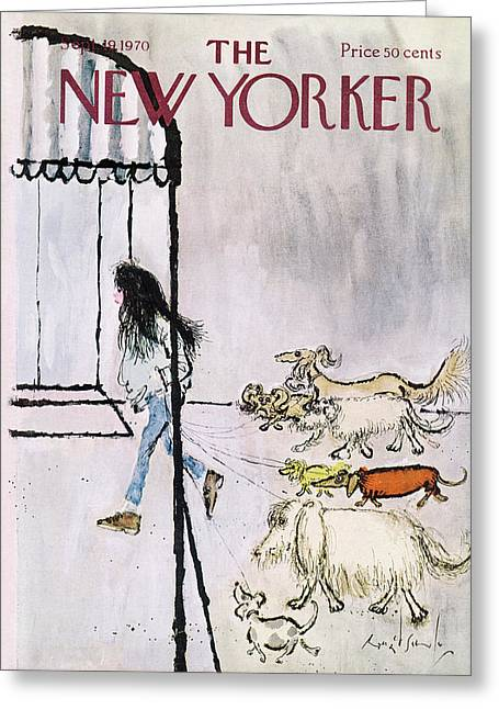New Yorker September 19th, 1970 Greeting Card