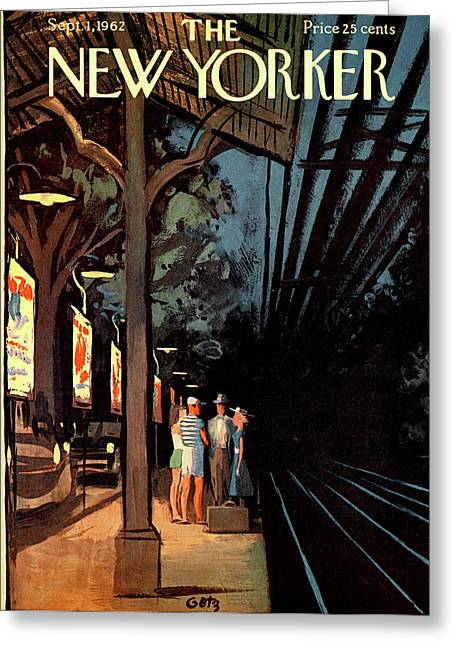 New Yorker September 1st, 1962 Greeting Card by Arthur Getz