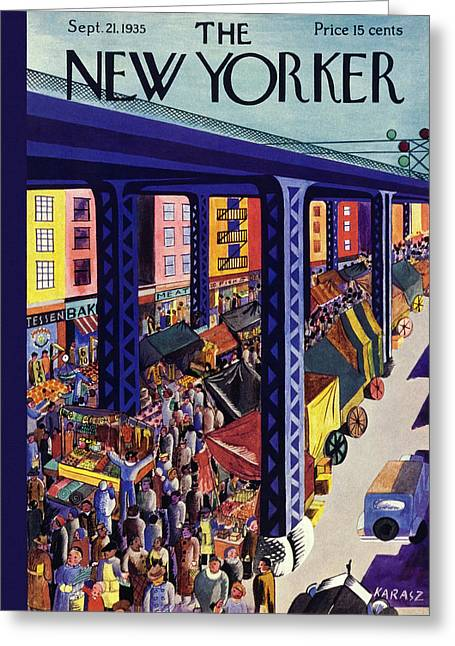 New Yorker September 21 1935 Greeting Card