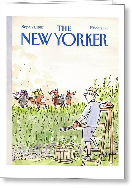 New Yorker September 21st, 1987 Greeting Card