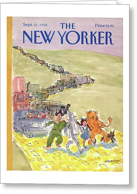 New Yorker September 21st, 1992 Greeting Card