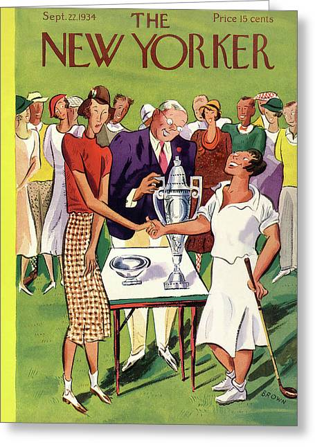 New Yorker September 22nd, 1934 Greeting Card
