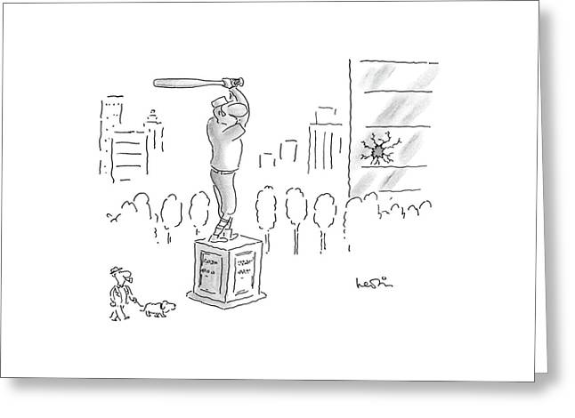New Yorker September 22nd, 1986 Greeting Card by Arnie Levin