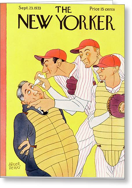 New Yorker September 23rd, 1933 Greeting Card by Abner Dean