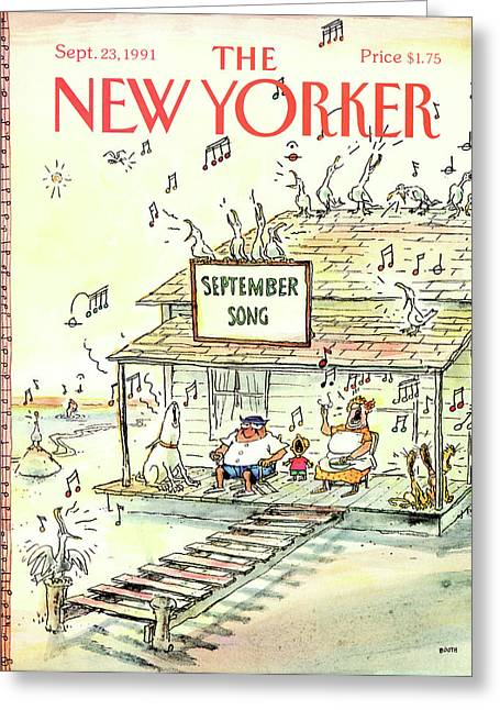 New Yorker September 23rd, 1991 Greeting Card