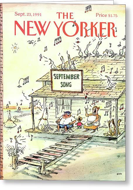 New Yorker September 23rd, 1991 Greeting Card
