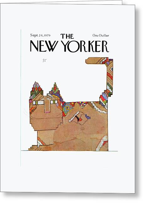 New Yorker September 24th, 1979 Greeting Card by Saul Steinberg