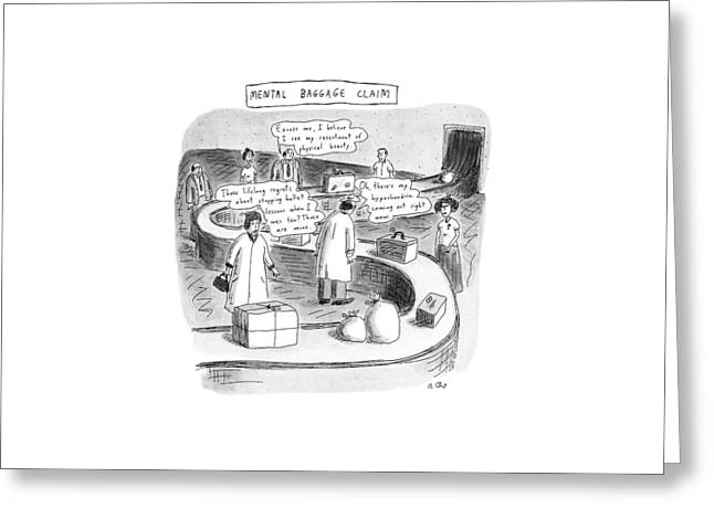 New Yorker September 24th, 1990 Greeting Card by Roz Chast