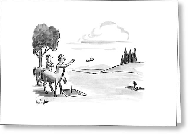 New Yorker September 24th, 1990 Greeting Card by Warren Miller