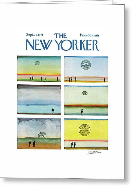 New Yorker September 25th, 1971 Greeting Card by Saul Steinberg