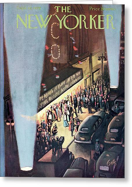New Yorker September 26th, 1953 Greeting Card
