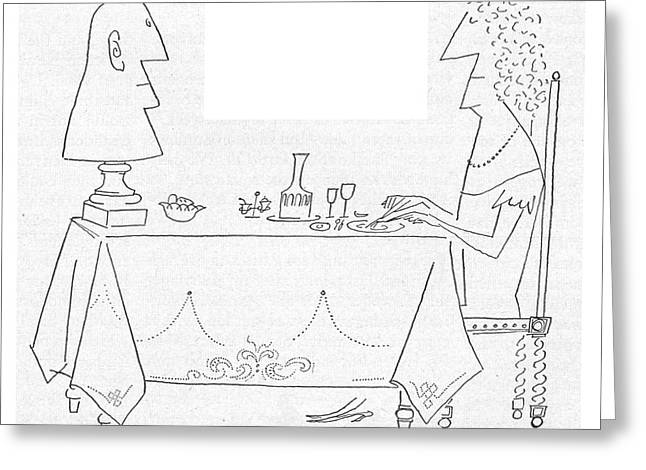 New Yorker September 26th, 1953 Greeting Card by Saul Steinberg