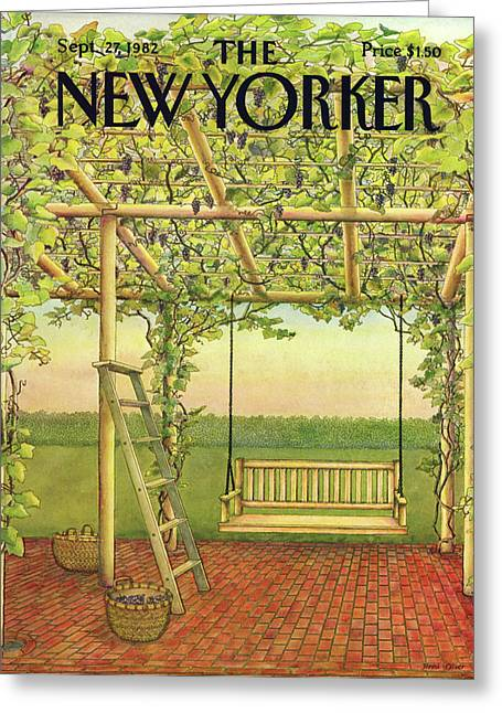 New Yorker September 27th, 1982 Greeting Card