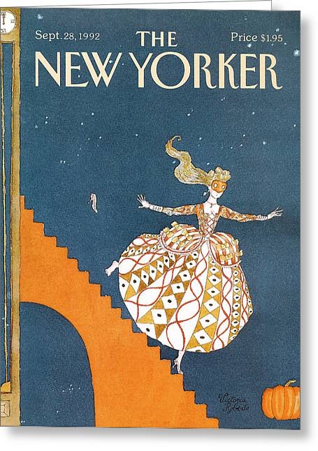 New Yorker September 28th, 1992 Greeting Card by Victoria Roberts