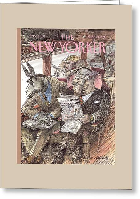 New Yorker September 28th, 1998 Greeting Card by Edward Sorel