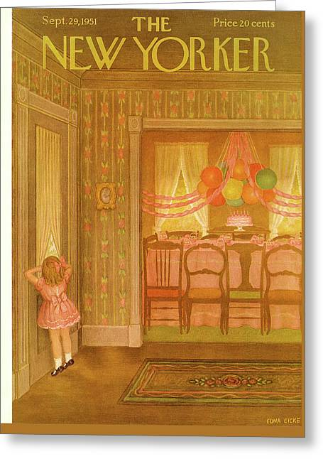 New Yorker September 29th, 1951 Greeting Card by Edna Eicke