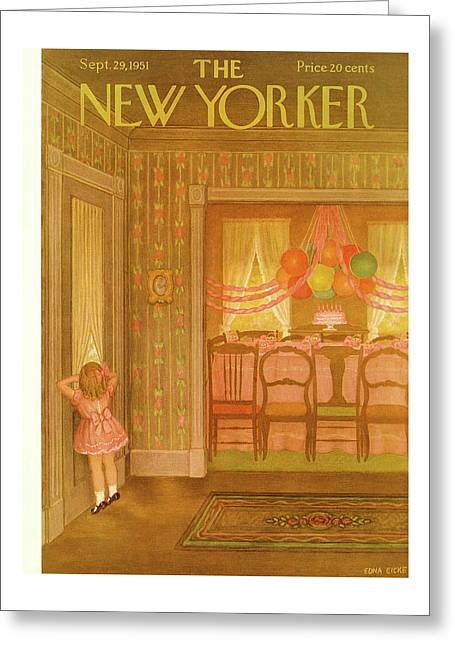 New Yorker September 29th, 1951 Greeting Card