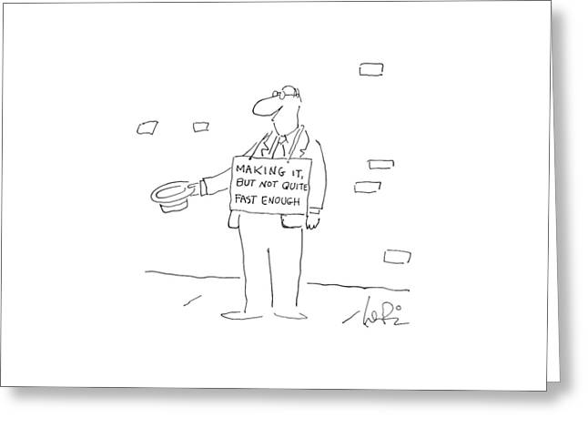 New Yorker September 29th, 1986 Greeting Card by Arnie Levin