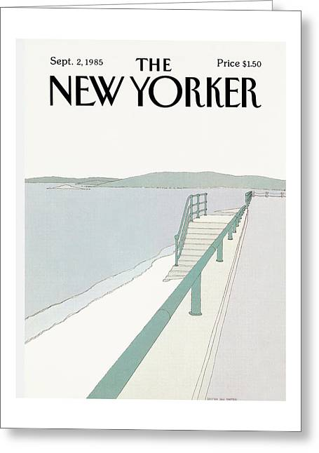 New Yorker September 2nd, 1985 Greeting Card