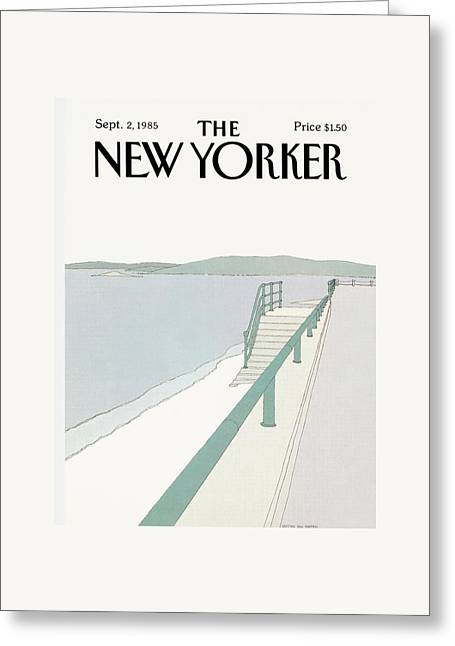 New Yorker September 2nd, 1985 Greeting Card by Gretchen Dow Simpson