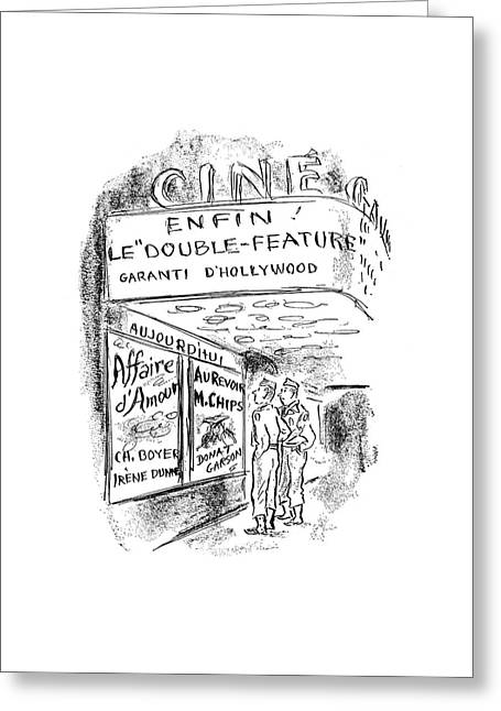 New Yorker September 30th, 1944 Greeting Card by Alan Dunn