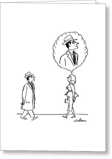 New Yorker September 30th, 1950 Greeting Card by Sam Cobean