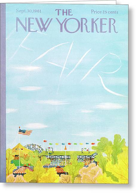 New Yorker September 30th, 1961 Greeting Card