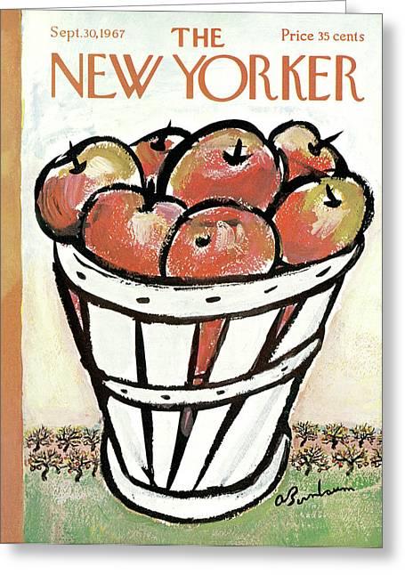 New Yorker September 30th, 1967 Greeting Card by Abe Birnbaum