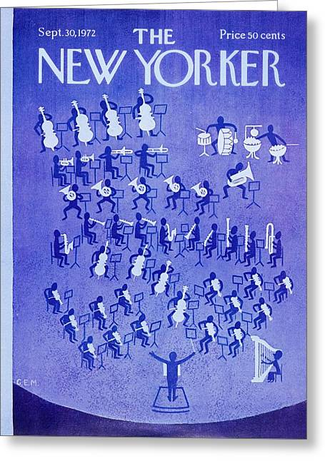 New Yorker September 30th 1972 Greeting Card