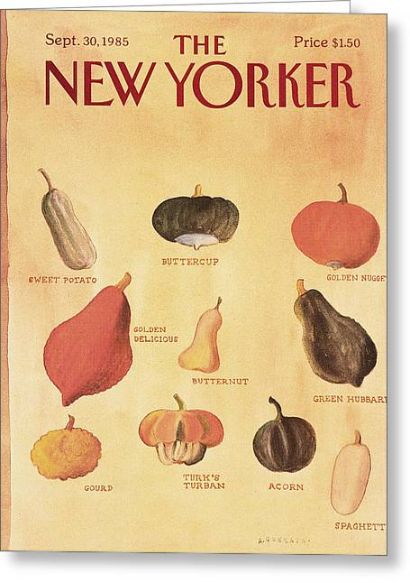New Yorker September 30th, 1985 Greeting Card by Abel Quezada