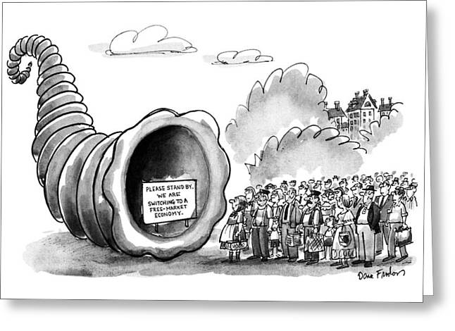 New Yorker September 3rd, 1990 Greeting Card by Dana Fradon