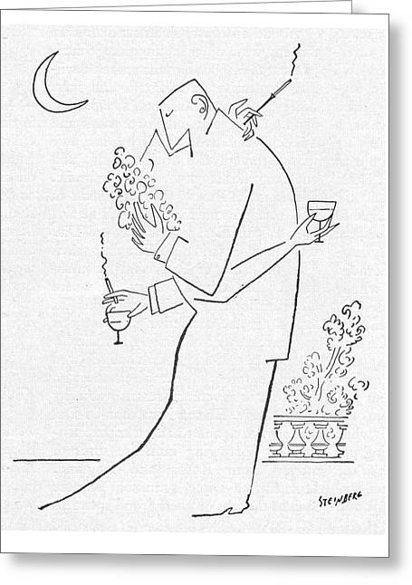New Yorker September 5th, 1953 Greeting Card by Saul Steinberg