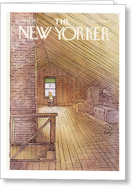 New Yorker September 5th, 1977 Greeting Card