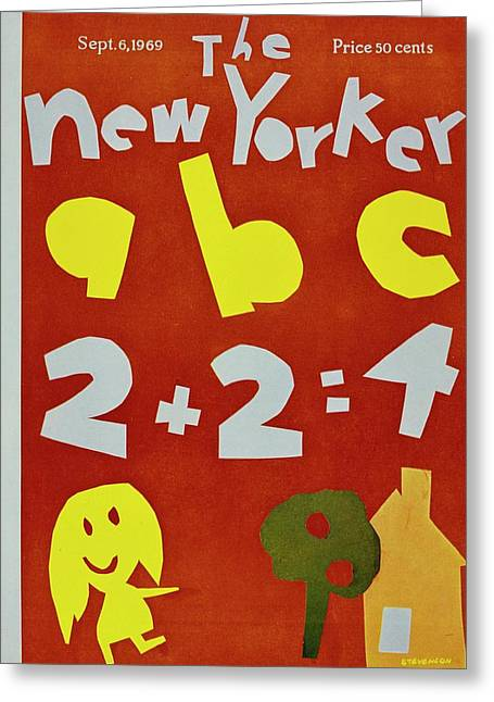 New Yorker September 6th 1969 Greeting Card