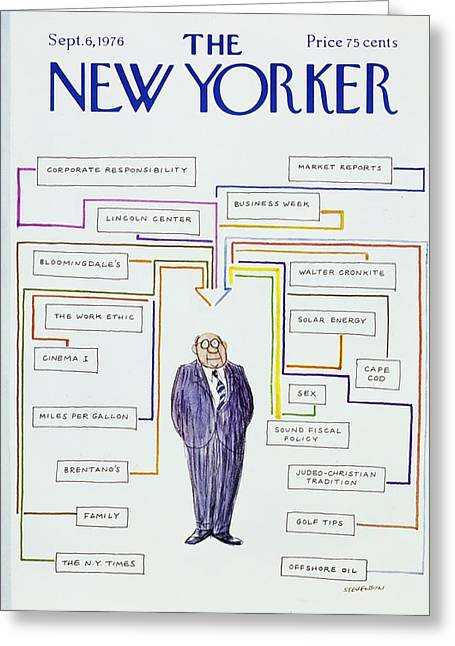 New Yorker September 6th 1976 Greeting Card