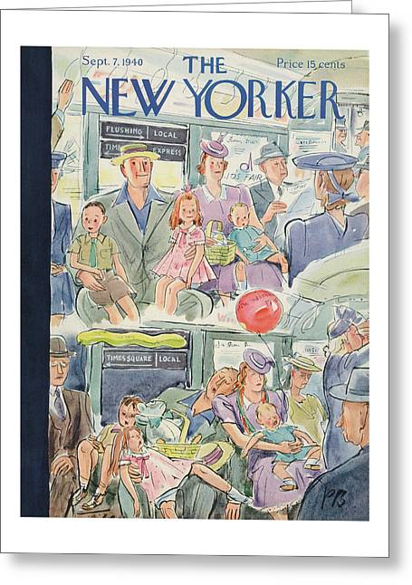 New Yorker September 7th, 1940 Greeting Card