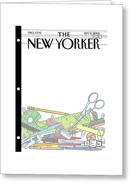 New Yorker September 8th, 2003 Greeting Card by Bruce Eric Kaplan