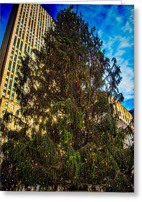 Greeting Card featuring the photograph New York's Holiday Tree by Chris Lord