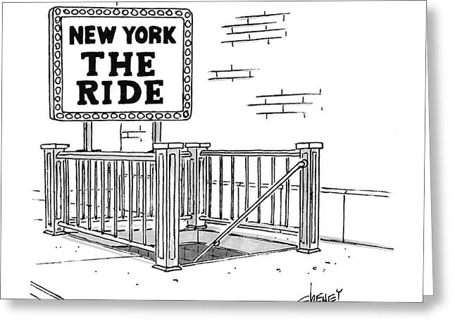New York The Ride Greeting Card by Tom Cheney