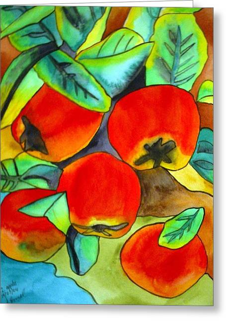 New Zealand Apples Greeting Card by Sacha Grossel