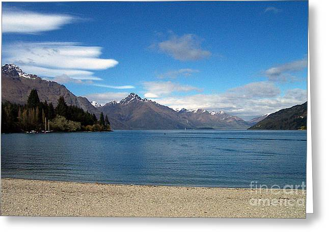 New Zealand Fjord Greeting Card
