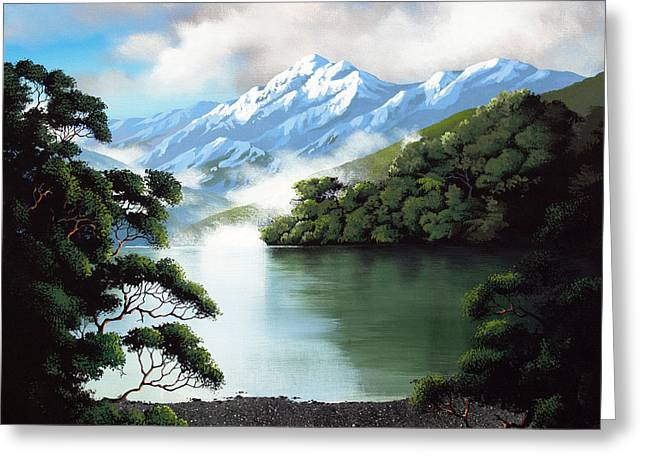 New Zealand Lewis Pass By Linelle Stacey Greeting Card by Linelle Stacey