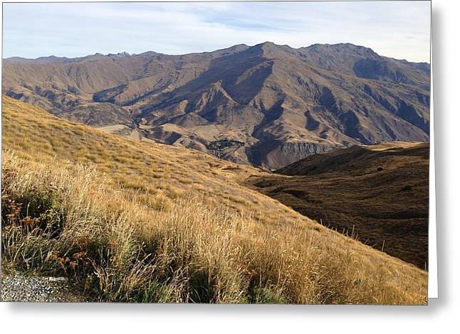 New Zealand Mountains Greeting Card by Ron Torborg