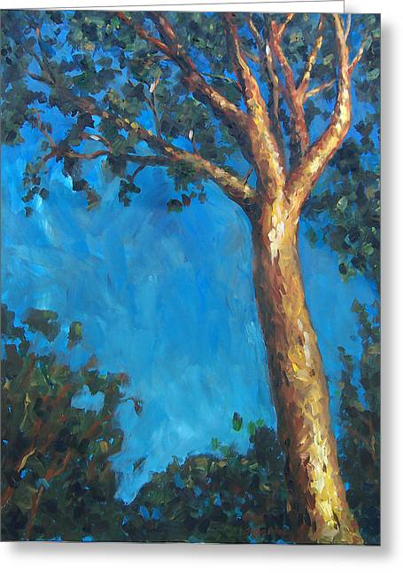 New Zealand Tree Greeting Card by Susan Moore