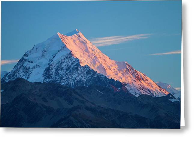 New Zealand's Aoraki, Mount Cook Greeting Card by Micah Wright