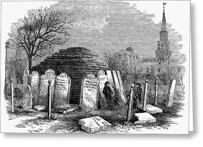 Newark Cemetery, 1876 Greeting Card by Granger